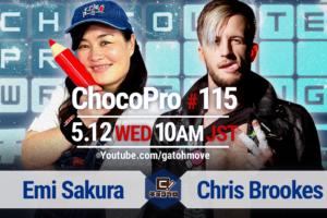 5/12(水)ChocoPro115対戦カード変更!さくらvsクリス!ルル&藤田vsメイ&アッキ!水森vsチエ!